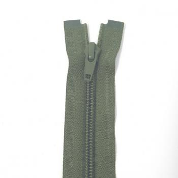 YKK MEDIUM WEIGHT OPEN END ZIP 18in/46cm DARK OLIVE GREEN