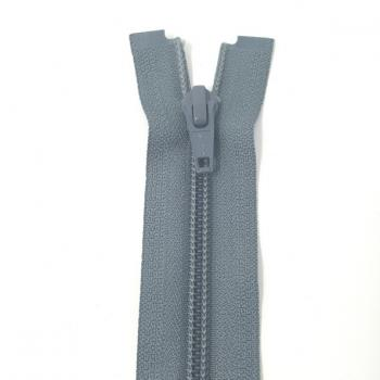 YKK MEDIUM WEIGHT OPEN END ZIP 22in/56cm GREY