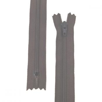 YKK NYLON DRESS ZIP 12in/30cm BROWN