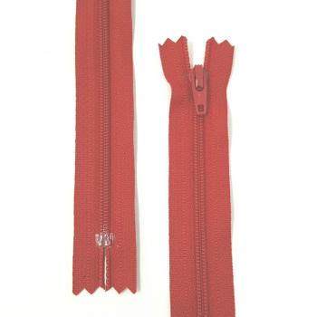 YKK NYLON DRESS ZIP 14in/36cm RED