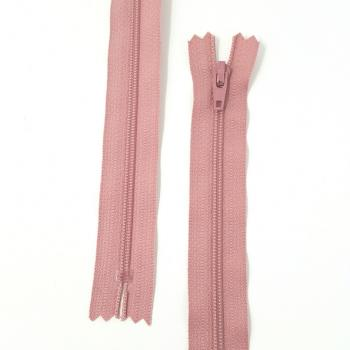 YKK NYLON DRESS ZIP 16in/41cm DARK PINK