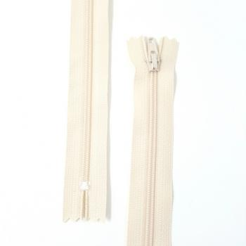 YKK NYLON DRESS ZIP 18in/46cm DARK CREAM
