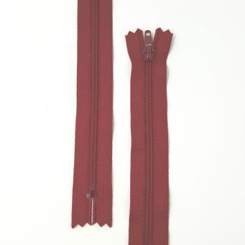 YKK NYLON DRESS ZIP 22in/56cm DARK RED