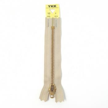 YKK BRASS ZIP 10cm/4in TAUPE