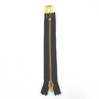 YKK BRASS ZIP 15cm/6in BLACK