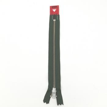 YKK NICKEL ZIP 18cm/7in GREEN