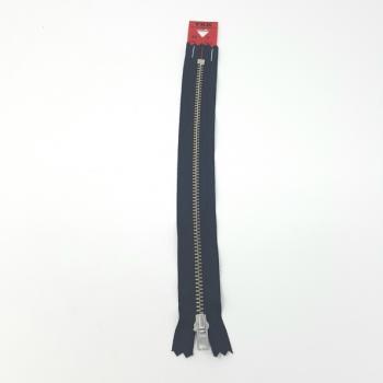 YKK NICKEL ZIP 20cm/8in NAVY