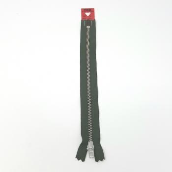 YKK NICKEL ZIP 20cm/8in GREEN