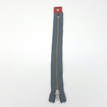YKK NICKEL ZIP 20cm/8in GREY