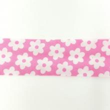 PINK WITH WHITE DAISY BIAS
