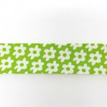 GREEN WITH WHITE DAISY BIAS
