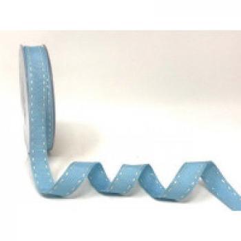 15mm STITCH GROSGRAIN BLUE