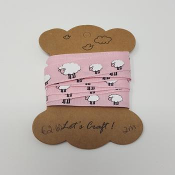 SHEEP RIBBON PINK 15mm