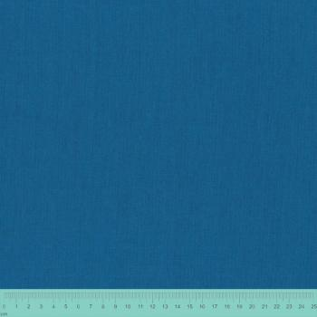 STOF LINEN BLEND BLUE
