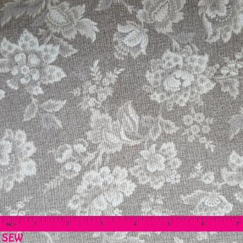 VINTAGE FLORAL TAUPE - CREAM