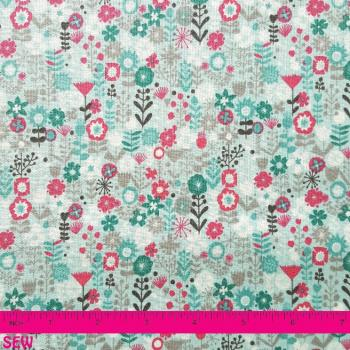 CATS FLOWERS TURQUOISE