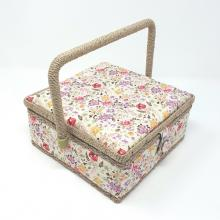 SEWING BASKET SQUARE MEADOW