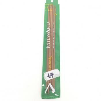 BAMBOO DOUBLE POINT KNITTING NEEDLES 2.5mm