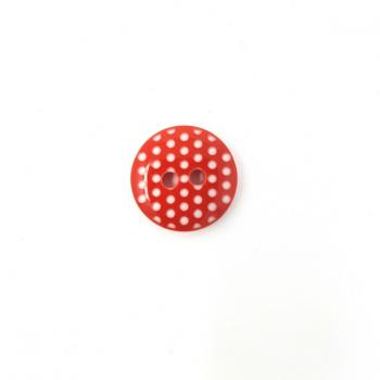 RED POLKA DOT BUTTON SMALL