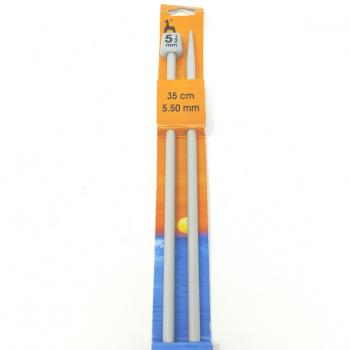 PONY KNITTING NEEDLES 5.5mm 35cm