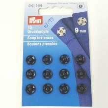 PRYM SNAP FASTENER BLACK 9mm