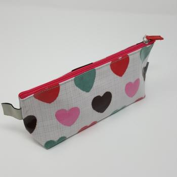 BRUSHSTROKE HEART ZIPPER BAG
