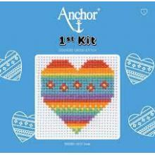 COUNTED CROSS STITCH HEART
