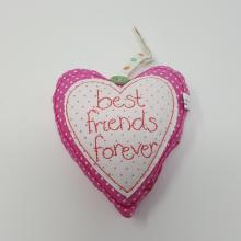 BEST FRIEND FABRIC HEART DECO