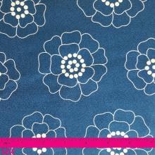 PALM SPRINGS WHITE FLOWER ON BLUE