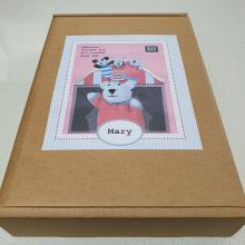 CROCHET HAND PUPPET BEAR MARY