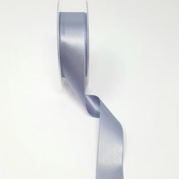 25mm DOUBLE FACED SATIN RIBBON SILVER