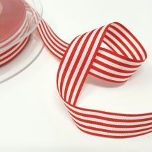 RED & WHITE STRIPE RIBBON 16mm