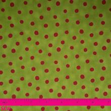 STOF MERRY CHRISTMAS RED DOTS ON GREEN