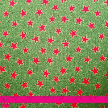 STOF FROSTY SEASON GREEN WITH RED STARS