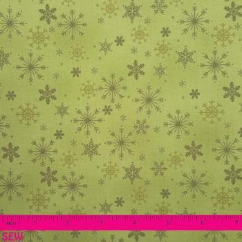 STOF FROSTY SEASON GREEN SNOWFLAKES