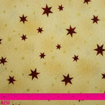 STOF RAPHAEL LARGE RED STAR ON GOLD
