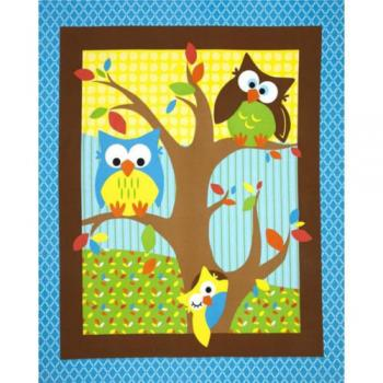 BRIGHT OWL NURSERY PANEL