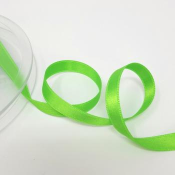 8mm DOUBLE FACED SATIN RIBBON GREEN