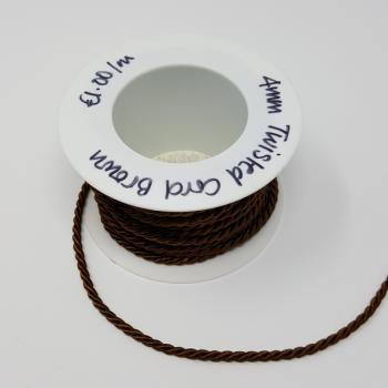 4mm TWISTED CORD BROWN