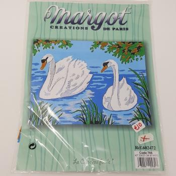 MARGOT NEEDLEPOINT KIT SWANS
