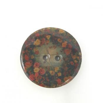LACQUERED FLOWER BUTTON
