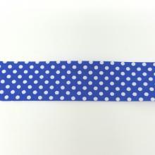 BIAS BINDING DOTS ON ROYAL BLUE 25mm