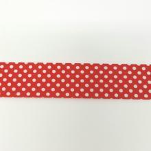 BIAS BINDING DOTS ON RED 25mm