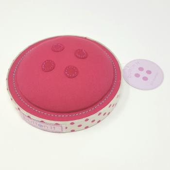 BUTTON IT PINK BUTTON IT PIN CUSHION<br><br>Comes boxed