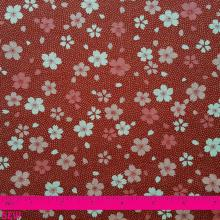 JAPANESE RED CHERRY BLOSSOM PRINT