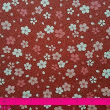 JAPANESE RED CHERRY BLOSSOM PRINT