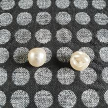 ROUNDED PEARL BALL BUTTON IVORY