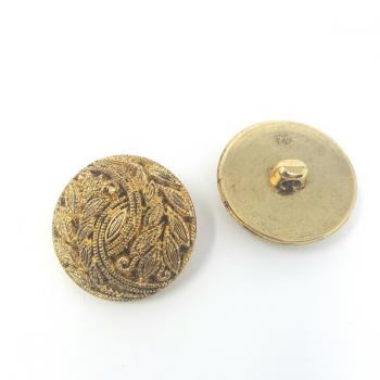 BRASS EFFECT LEAF PATTERNED BUTTON