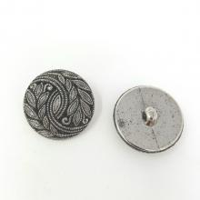 SILVER/BLACK PATTERN BUTTON