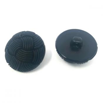 BLACK WEAVE PATTERN BUTTON LARGE